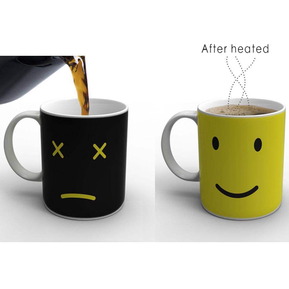 Tasse à café/thé qui change avec la chaleur