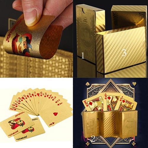 Cartes à jouer en feuilles d'or