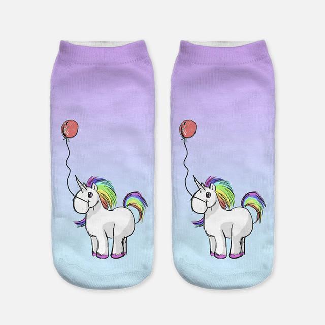 Chaussettes  licorne pour femme