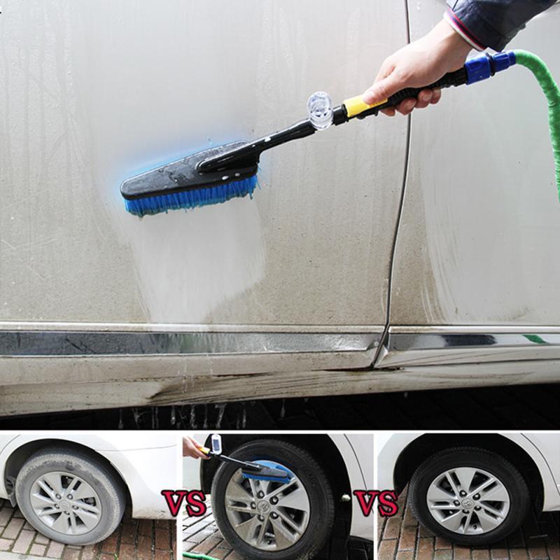 Brosse de lavage avec raccord tuyau d'arrosage
