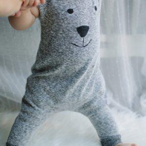 Barboteuse smile d'automne pour bébé