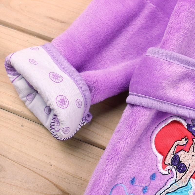 Peignoir à capuche pour garçons et filles