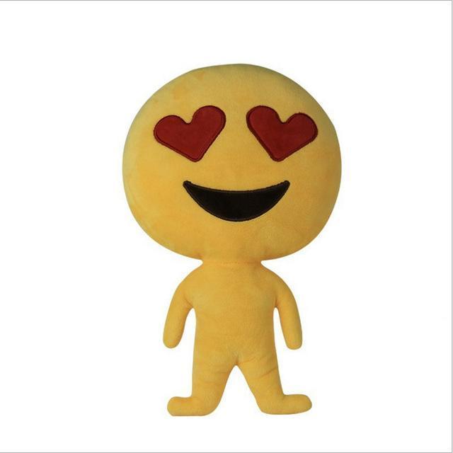 Coussin décoratif peluche Smiley