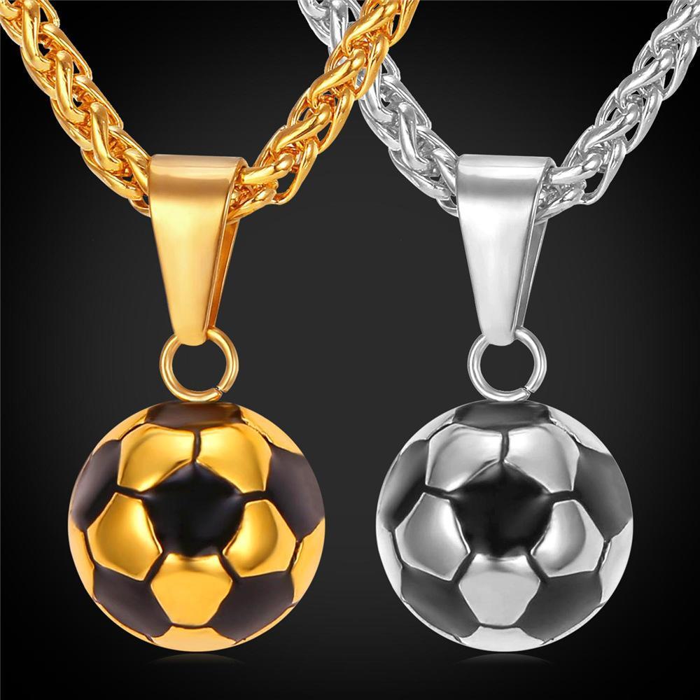 Pendentif ballon de foot pour hommes et femmes