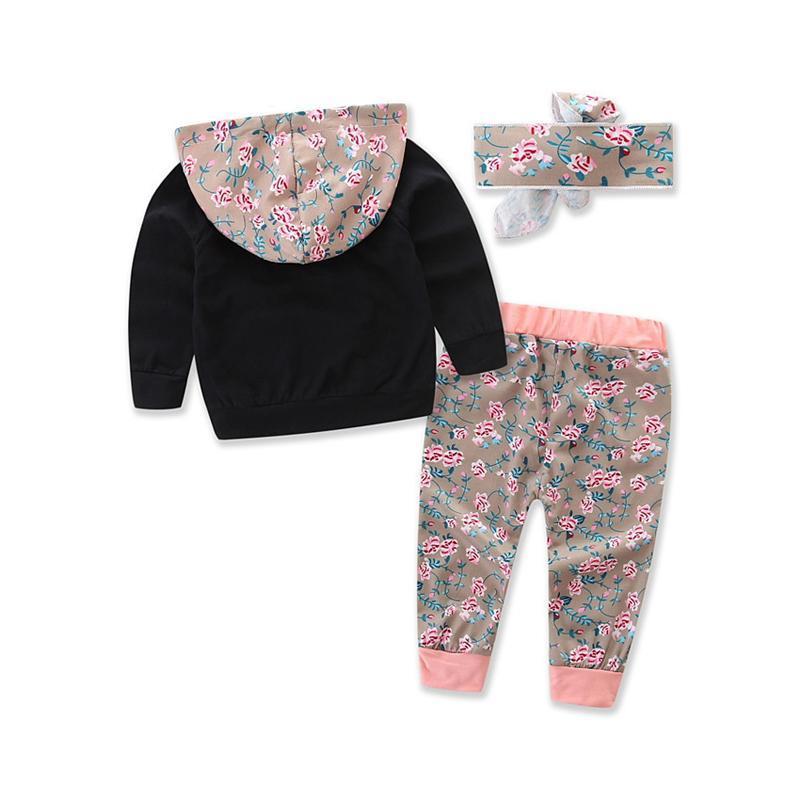 Ensemble floral avec capuche pour enfant