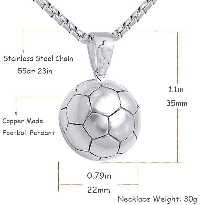 Pendentif en forme de ballon de foot pour Hommes