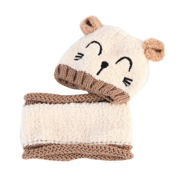 Bonnet avec écharpe pour enfants