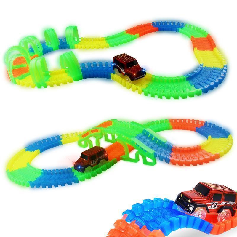 Circuit magique flexible avec voiture Led