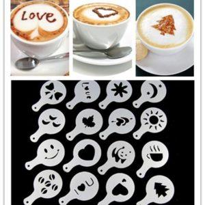 Magnifiques Pochoirs à motif café (16 modèles)