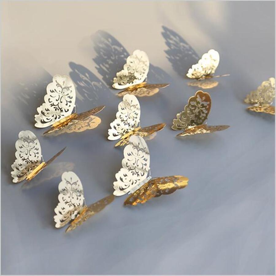 Kit de 12 Stickers papillons 3D