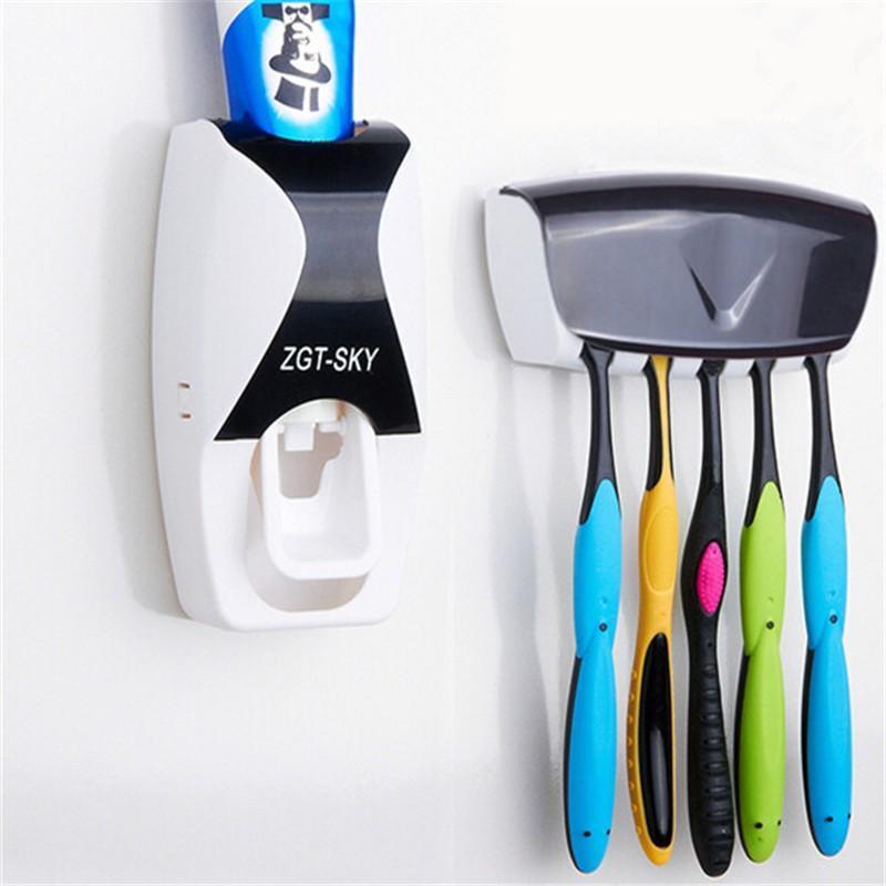 Distributeur de dentifrice et Support pour brosse à dents