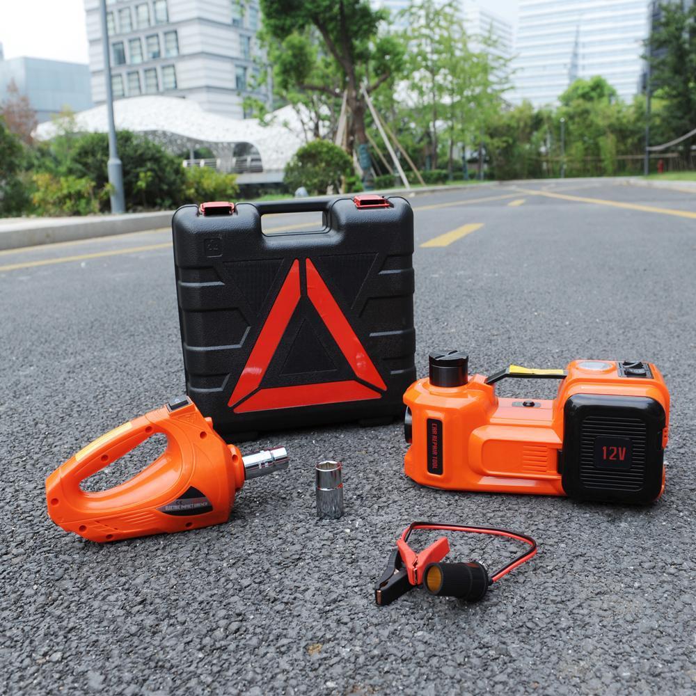 Cric hydraulique électrique d'urgence à 3 fonctions