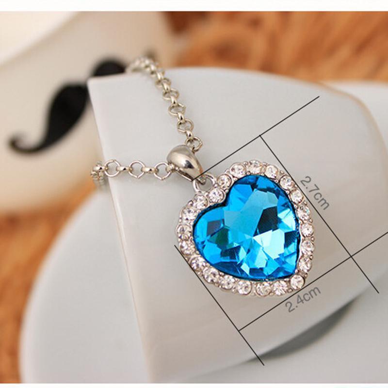 Pendentif cœur en cristal pour femmes