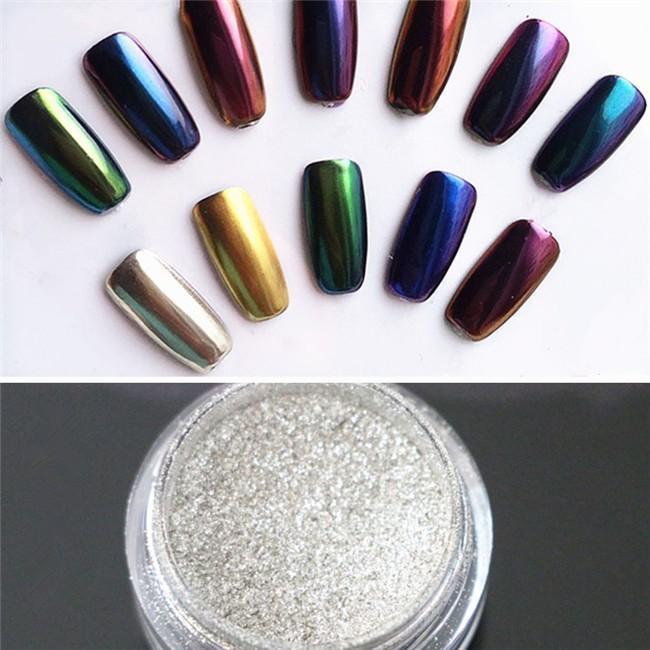 Poudre holographique pour ongles