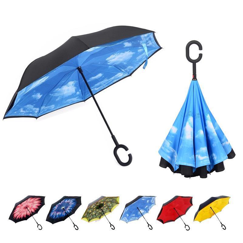 Super parapluie inversé double couche