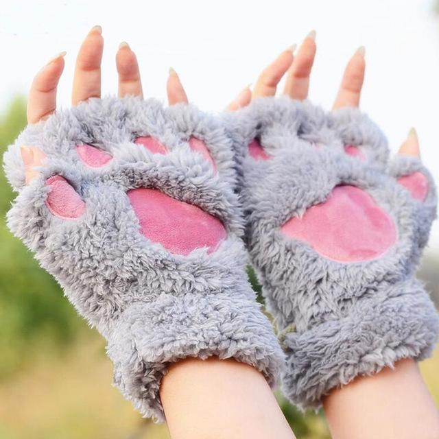 Mitaines confortables pattes de chat