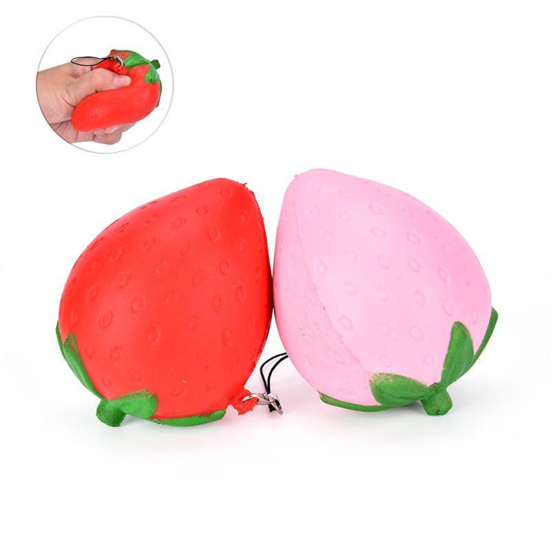 Porte-clefs anti-stress fraise