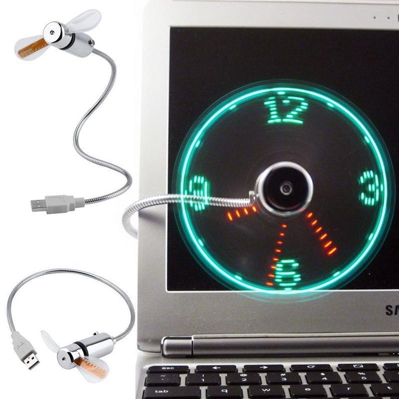 Ventilateur USB Horloge
