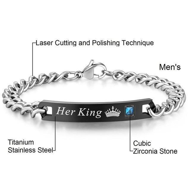 Bracelets Her King His Queen ( Duo )