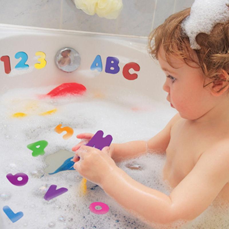 Chiffres et lettres pour le bain
