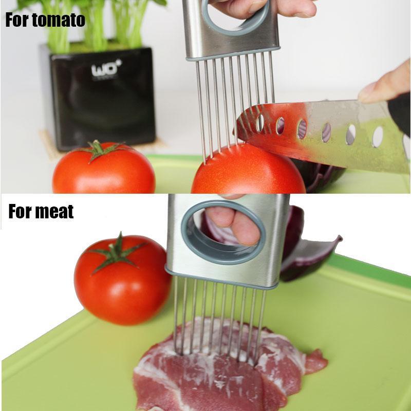 Pique-oignons en acier inoxydable