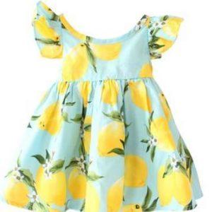 Jolie robe à motif citron