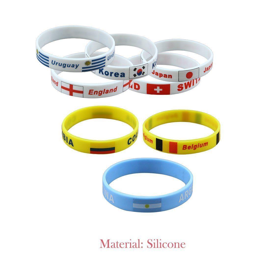 Bracelet coupe du monde en silicone