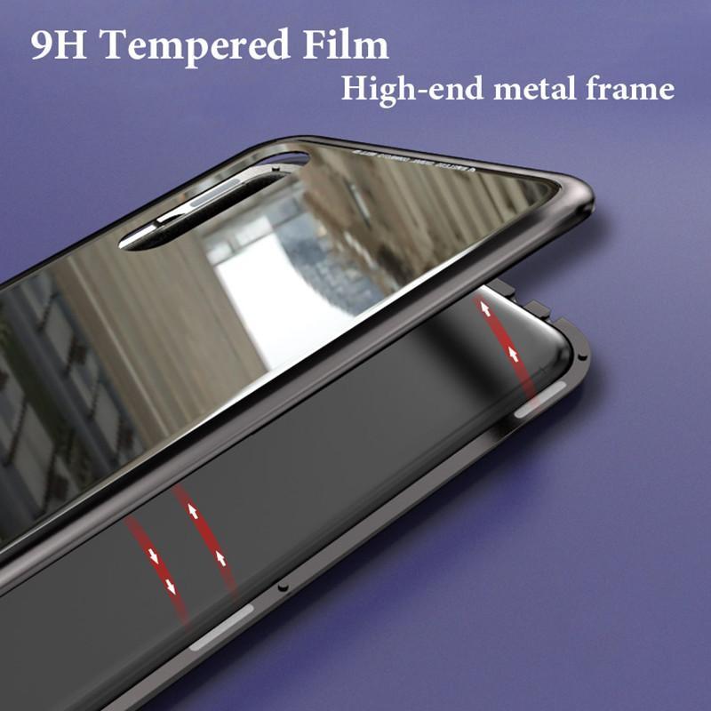 Mangetio : Etui magnétique en verre pour Huawei