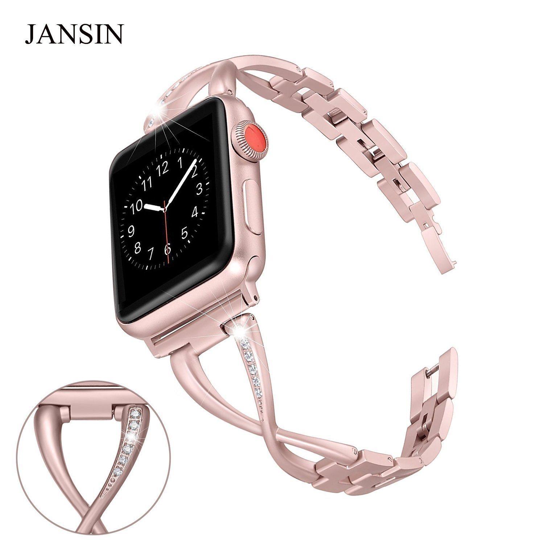 Bracelet Luxe pour Montre Apple iWatch Réglable En Acier Inoxydable