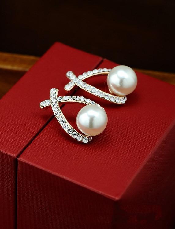 Jolies perles boucles d'oreilles