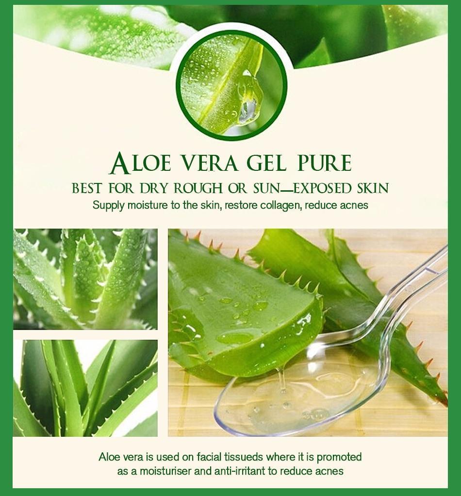 Gel Aloe Vera anti rides & acné