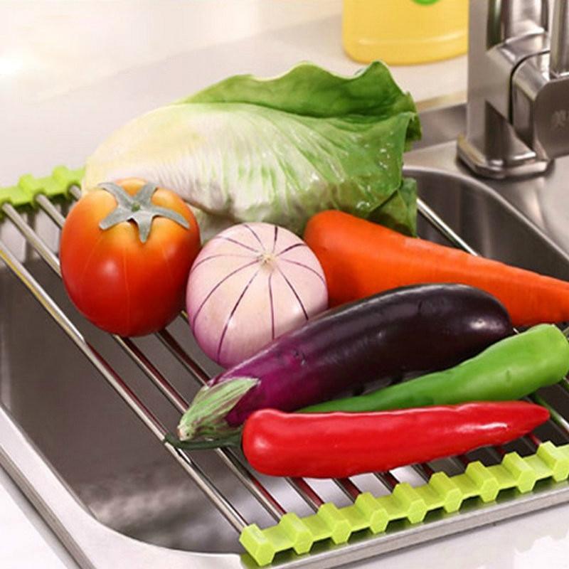 Égouttoir enroulable pour vaisselle