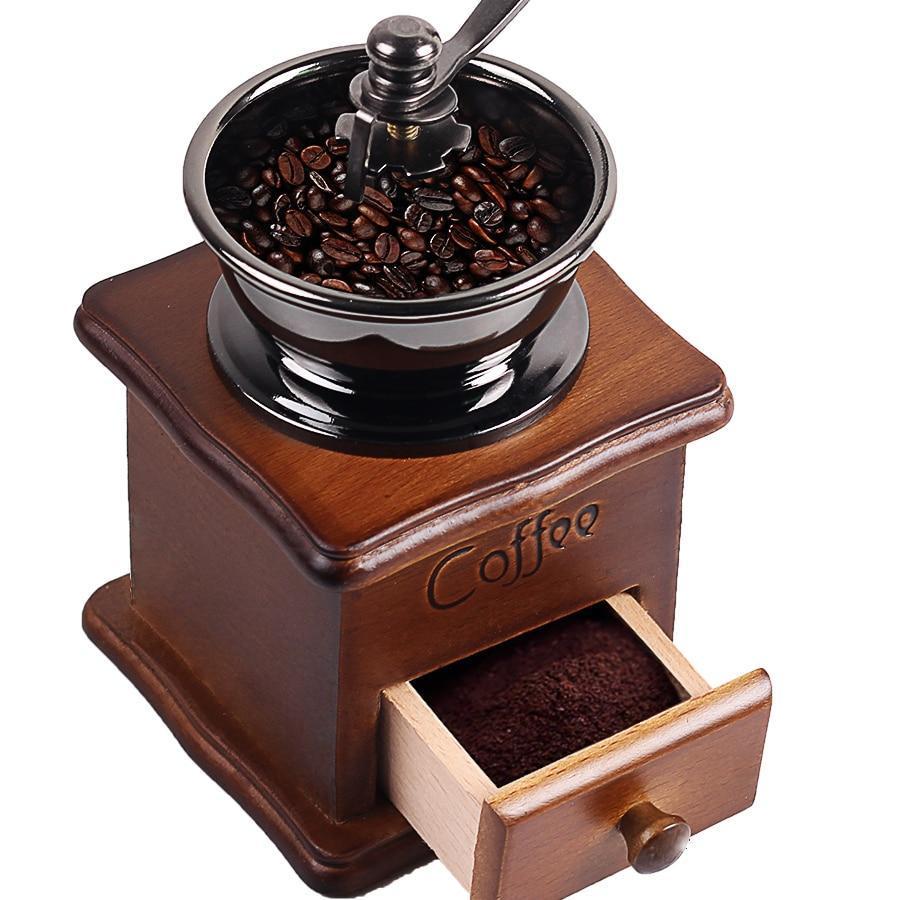 Moulin à café manuel en bois