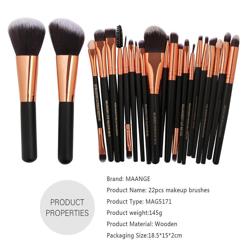 Pinceaux de maquillage professionnel ( 20 & 20 pièces )