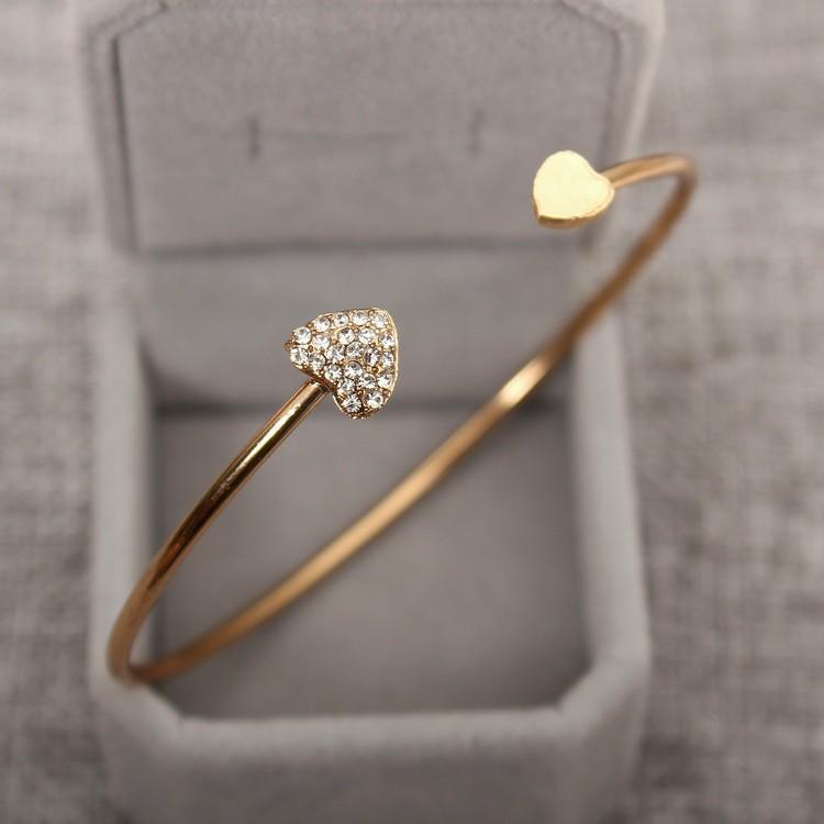 Joli bracelet double coeur