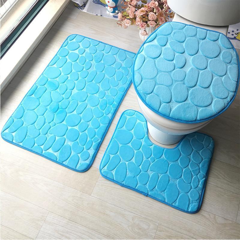 Tapis pour salle de bain et WC ( 3 pièces )