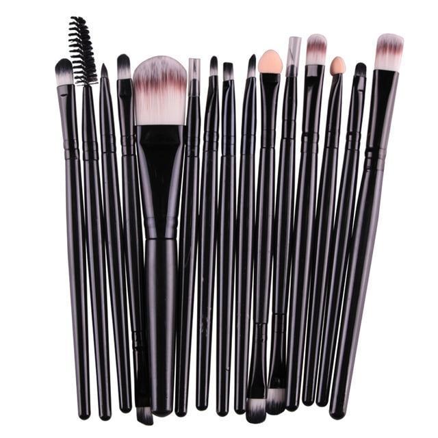Pinceaux Maquillage Professionnel (15 pièces )