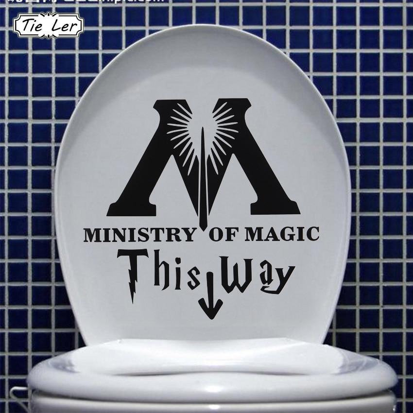 Stickers ministère de la magie par ici ( 5 pièces )