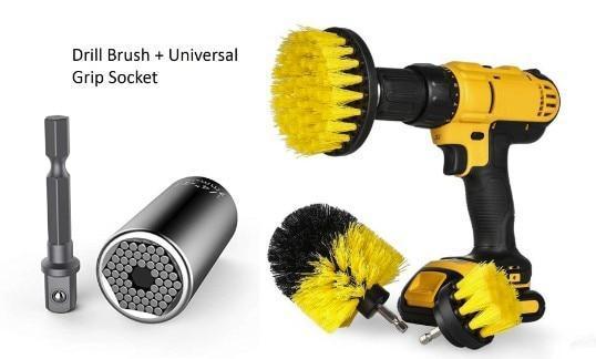 Kit de nettoyage rotatif à récurer