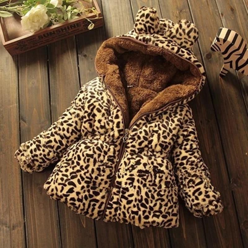 Cute Manteau léopard à capuche