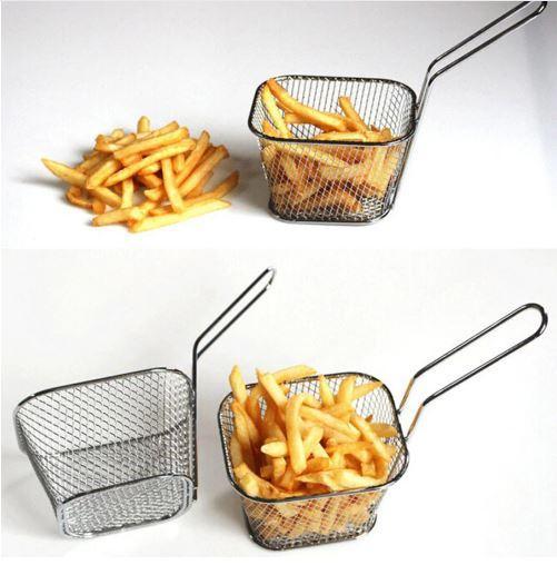 Mini panier à frites en acier inoxydable