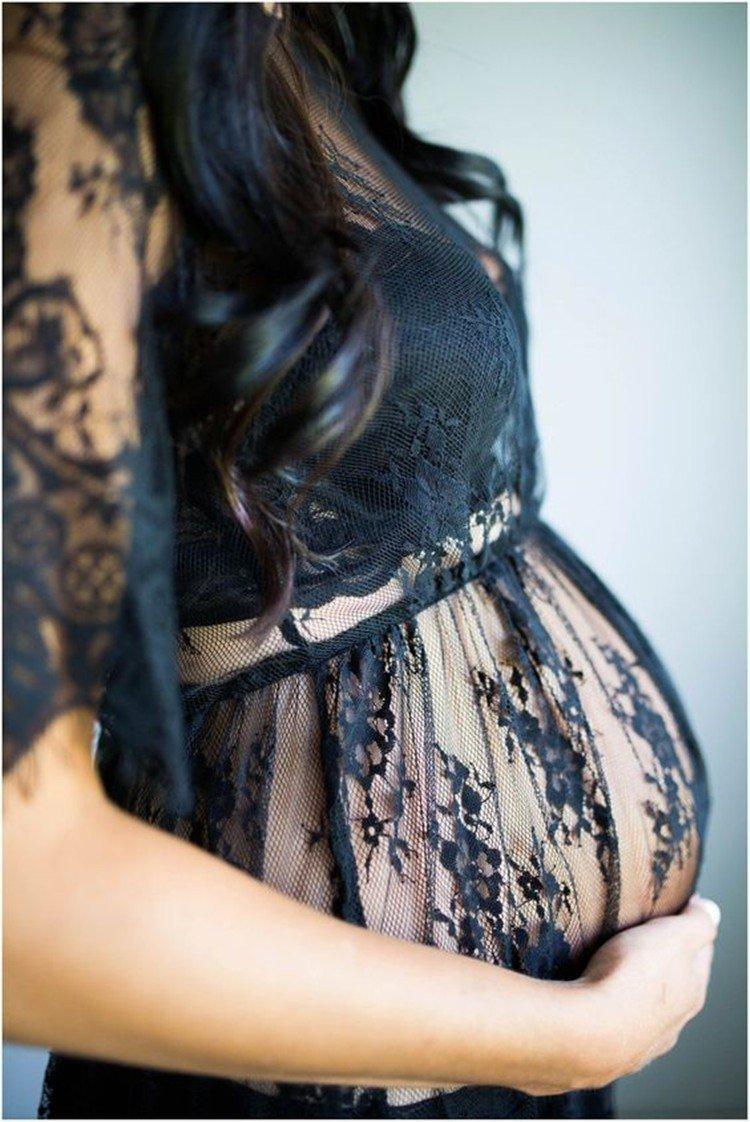 Robe de maternité sexy en dentelle