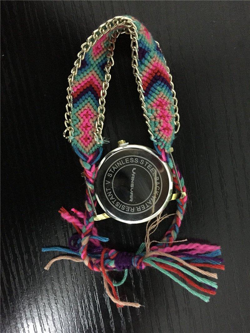 Feminino : Montre-Bracelet tressé