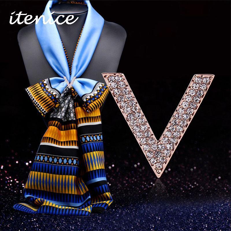 clip à strass pour foulard
