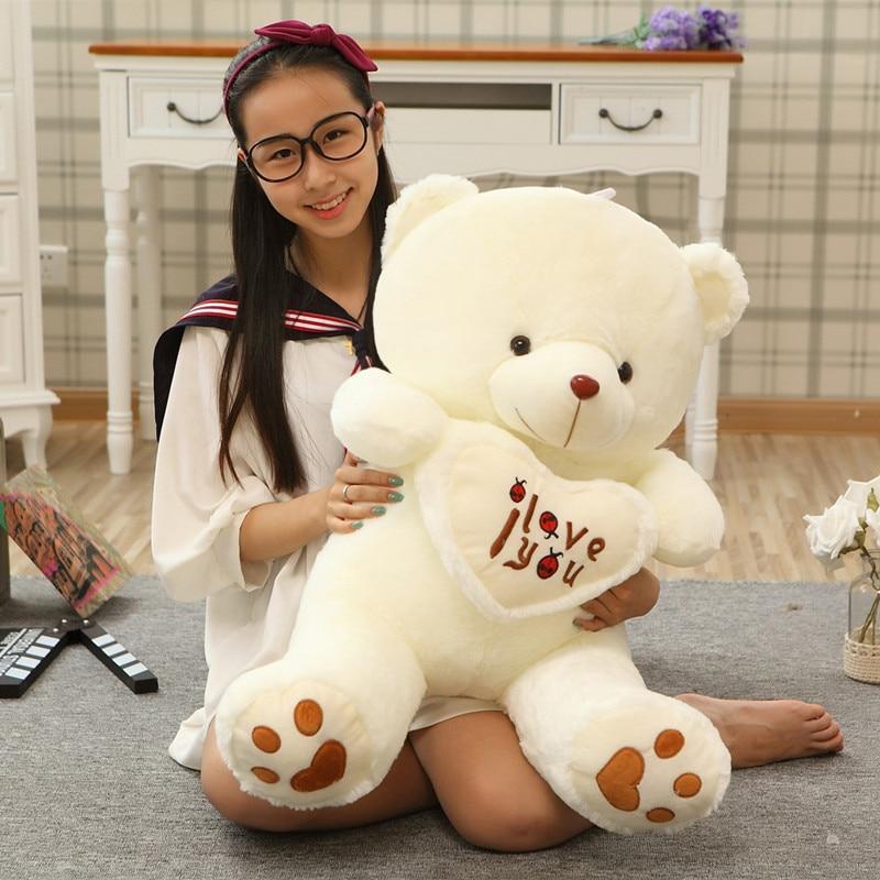 Cute peluche ours avec cœur