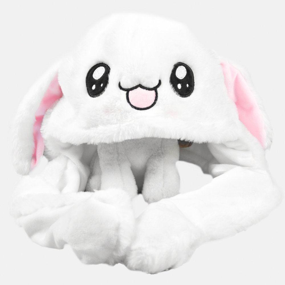 Bonnet lapin rigolo aux oreilles qui bougent