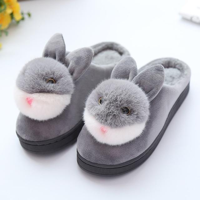 Cute chaussons pantoufles lapin