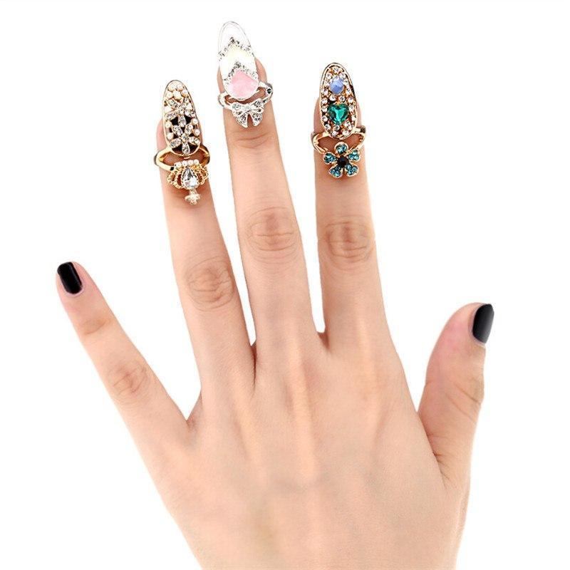 Bagues ongles à paillettes