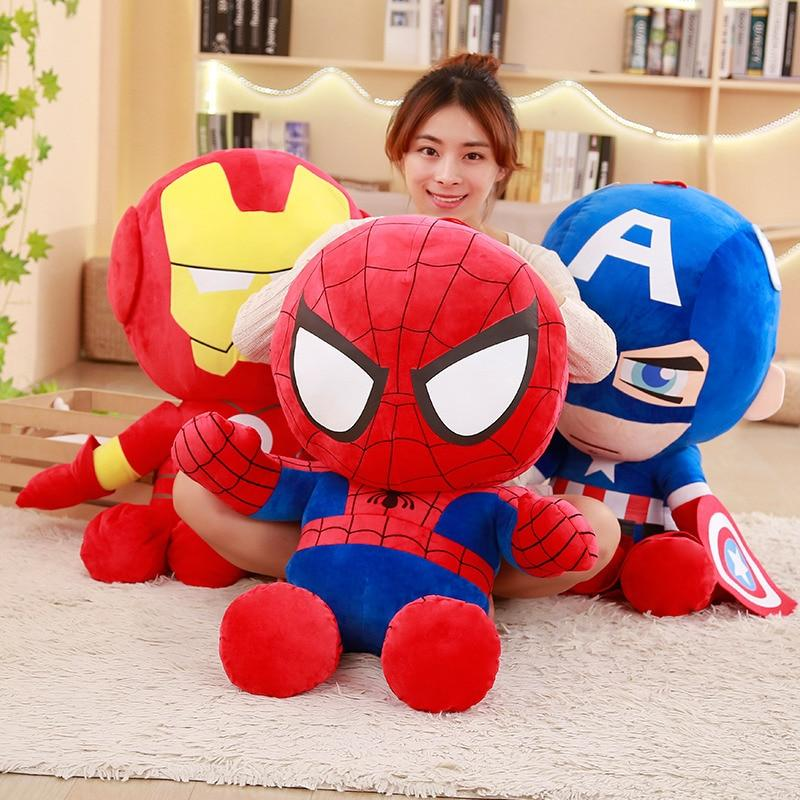 Peluche Captain America, Iron Man, Spiderman