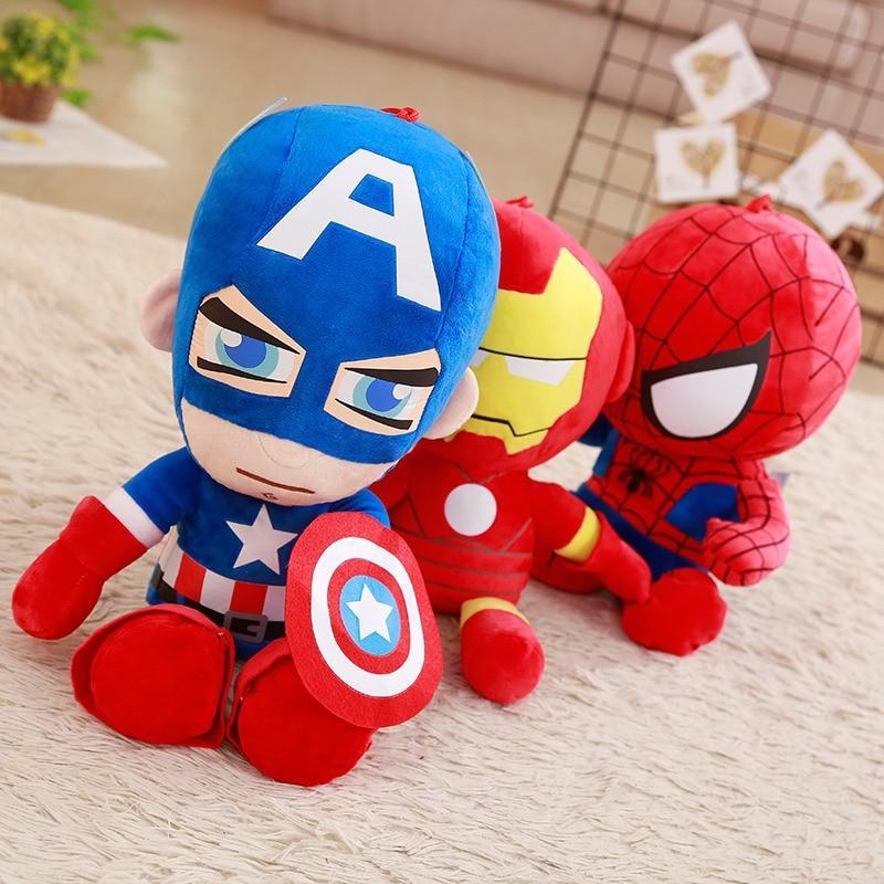 Peluche Captain America, Iron Man, Spiderman